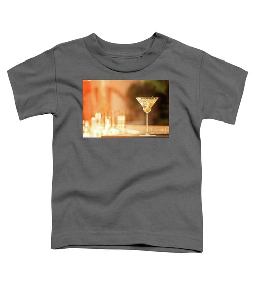 Evening With Martini Toddler T-Shirt by Ekaterina Molchanova
