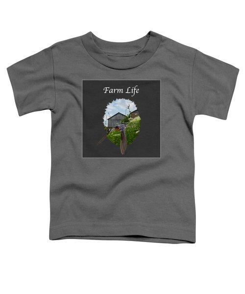 Farm Life Toddler T-Shirt by Jan M Holden
