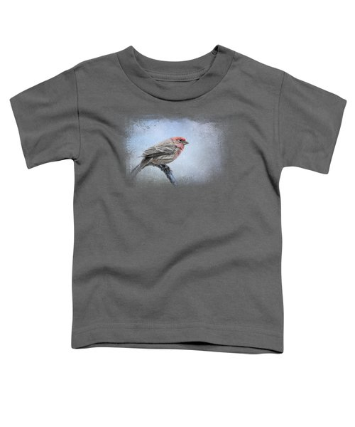 Finch In The Snow Toddler T-Shirt by Jai Johnson