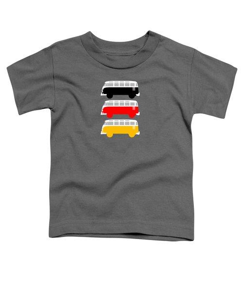 German Icon - Vw T1 Samba Toddler T-Shirt by Mark Rogan