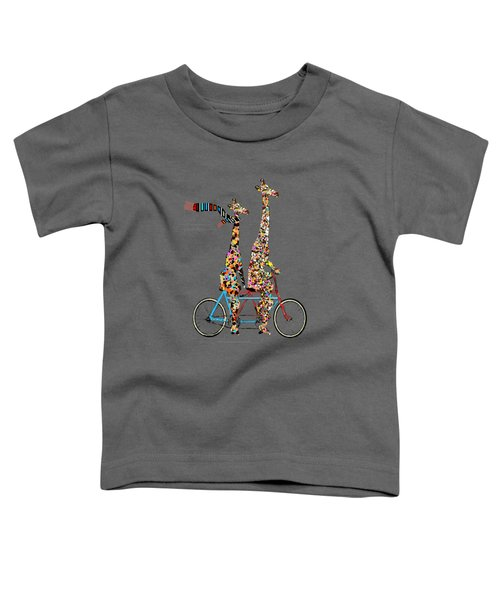 Giraffe Days Lets Tandem Toddler T-Shirt by Bri B
