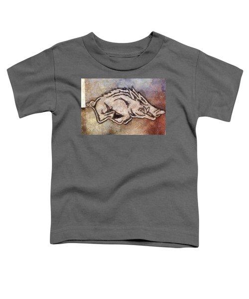 Go Hogs Go  Toddler T-Shirt by Dawn Bearden