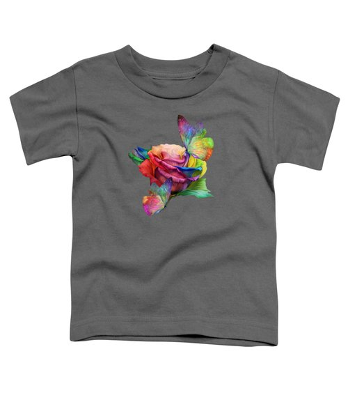 Healing Rose Toddler T-Shirt by Carol Cavalaris