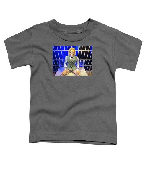 Heath Ledger As The Joker Toddler T-Shirt by John Malone