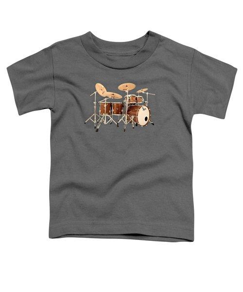 Hendrix  Drums Toddler T-Shirt by Shavit Mason