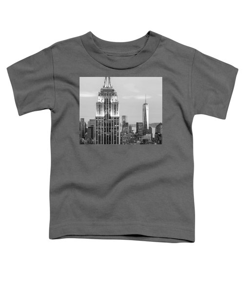Iconic Skyscrapers Toddler T-Shirt by Az Jackson