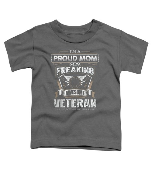 I'm Proud Of Mom.... Toddler T-Shirt by Jackie Robinson