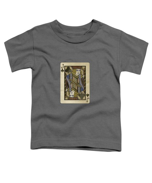 Jack Of Clubs In Wood Toddler T-Shirt by YoPedro