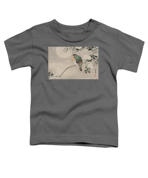 Japanese Silk Painting Of A Wood Pigeon Toddler T-Shirt by Japanese School
