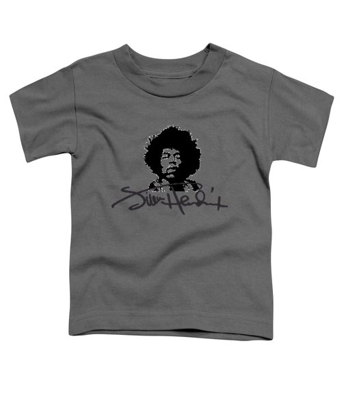 Jimi Hendrix Purple Haze Toddler T-Shirt by David Dehner