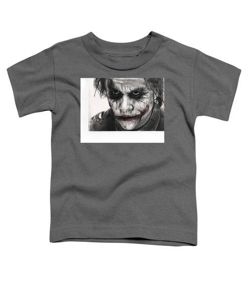 Joker Face Toddler T-Shirt by James Holko