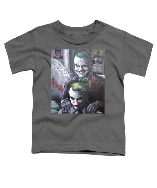 Jokery In Wayne Manor Toddler T-Shirt by Tyler Haddox