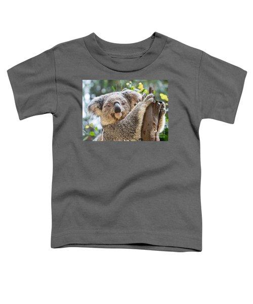 Koala On Tree Toddler T-Shirt by Jamie Pham
