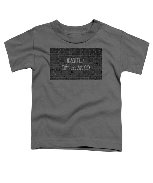 Led Zeppelin Brick Wall Toddler T-Shirt by Dan Sproul