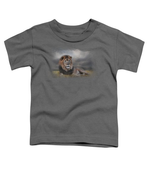 Lion Waiting For The Storm Toddler T-Shirt by Jai Johnson