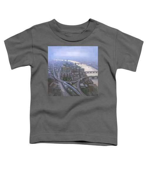 London, Looking West From The Shard Toddler T-Shirt by Steve Mitchell