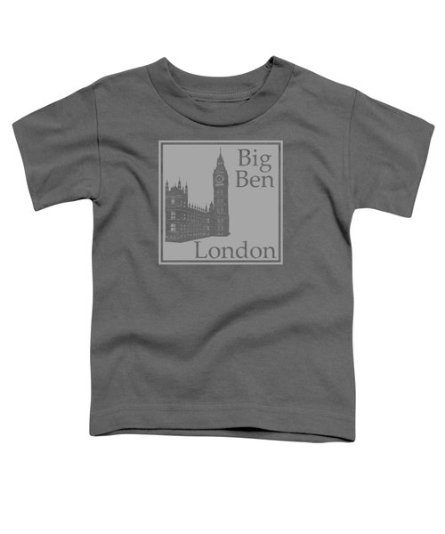 London's Big Ben In Gray Toddler T-Shirt by Custom Home Fashions