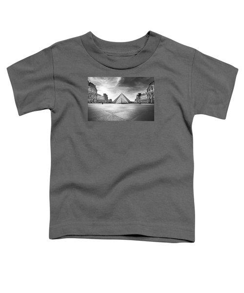 Louvre Bw Toddler T-Shirt by Ivan Vukelic