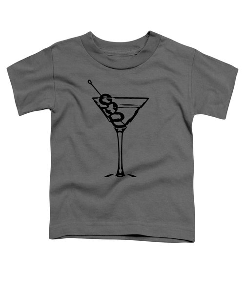 Martini Glass Tee Toddler T-Shirt by Edward Fielding
