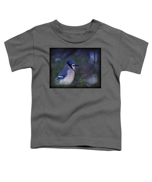 Me Minus You - Blue Toddler T-Shirt by Evelina Kremsdorf