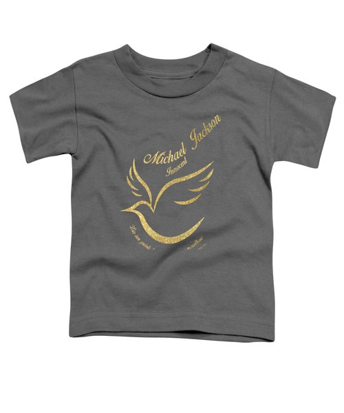 Michael Jackson Golden Dove Toddler T-Shirt by D Francis