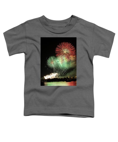 Montreal-fireworks Toddler T-Shirt by Mircea Costina Photography
