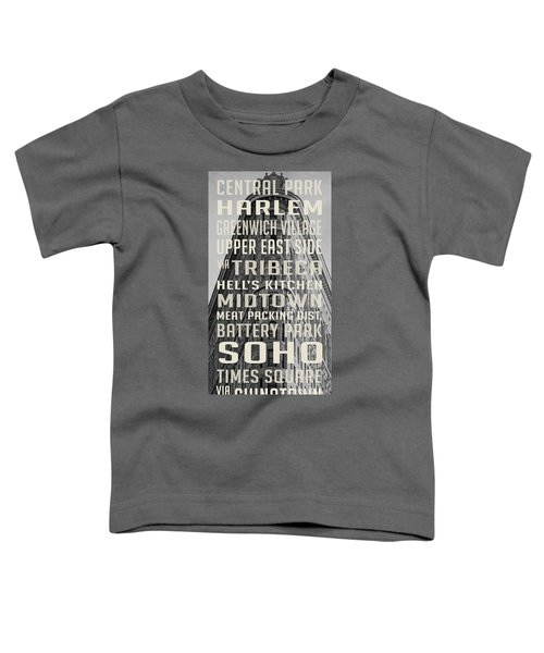 New York City Subway Stops Flat Iron Building Toddler T-Shirt by Edward Fielding