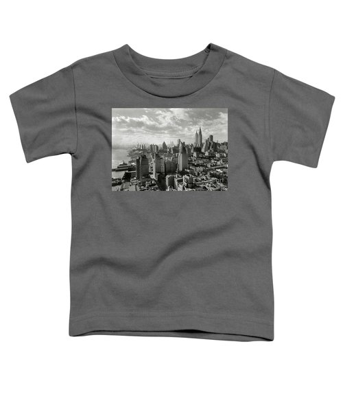 New Your City Skyline Toddler T-Shirt by Jon Neidert