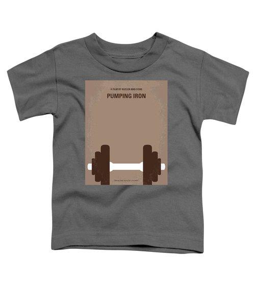 No707 My Pumping Iron Minimal Movie Poster Toddler T-Shirt by Chungkong Art