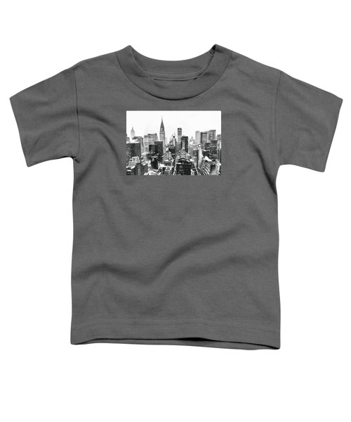 Nyc Snow Toddler T-Shirt by Vivienne Gucwa