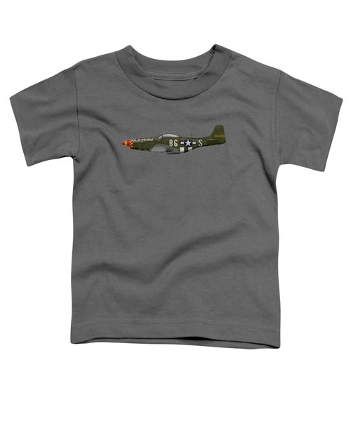 Old Crow - P-51 D Mustang Toddler T-Shirt by Ed Jackson