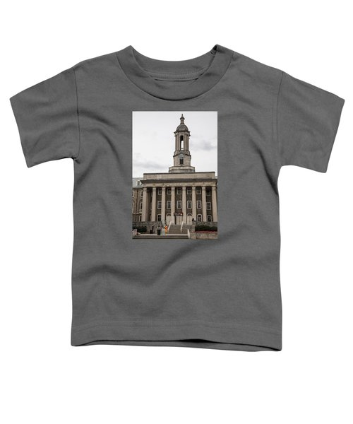 Old Main Penn State From Front  Toddler T-Shirt by John McGraw