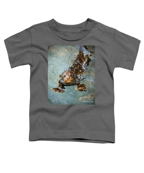 Otter Pup Toddler T-Shirt by Jamie Pham