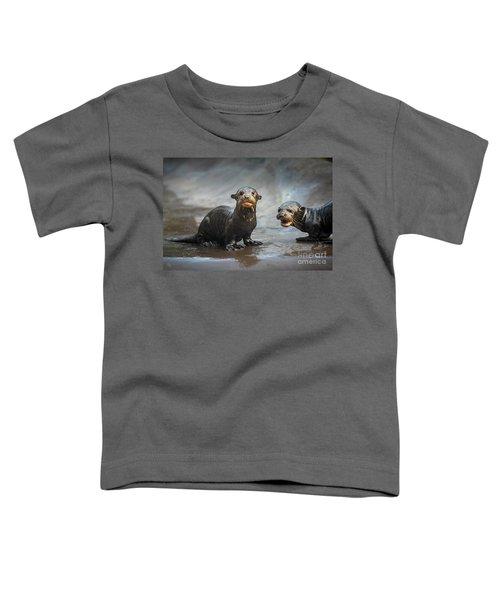 Otter Pup Pair Toddler T-Shirt by Jamie Pham