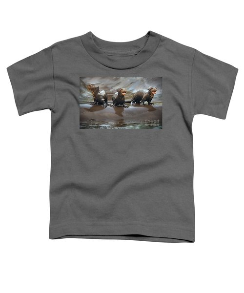 Otter Pup Triplets Toddler T-Shirt by Jamie Pham