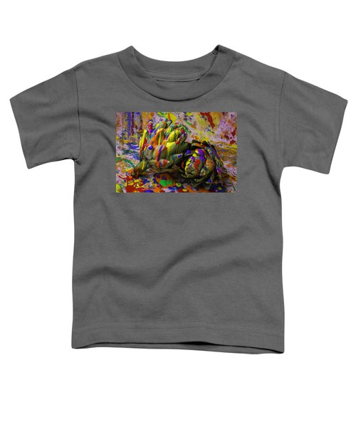 Painted Artichokes Toddler T-Shirt by Garry Gay