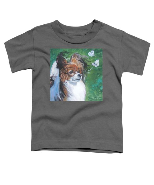 Papillon And Butterflies Toddler T-Shirt by Lee Ann Shepard