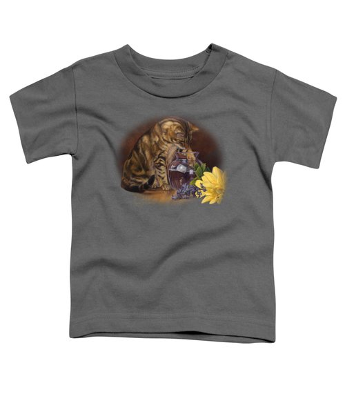 Paw In The Vase Toddler T-Shirt by Lucie Bilodeau