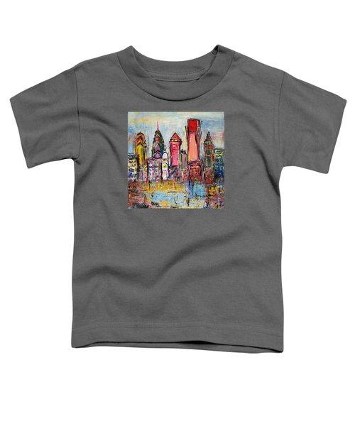 Philadelphia Skyline 232 1 Toddler T-Shirt by Mawra Tahreem