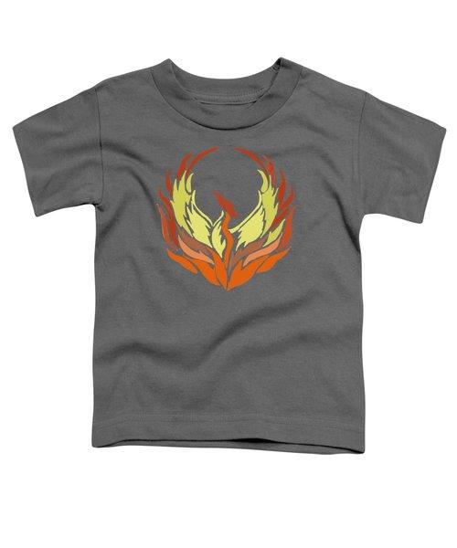 Phoenix Bird Toddler T-Shirt by Priscilla Wolfe
