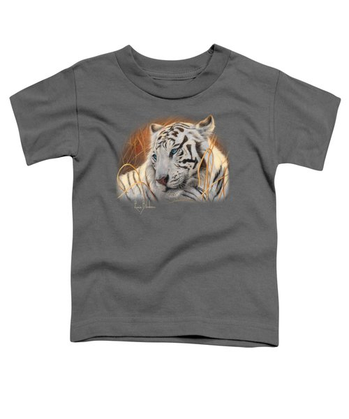 Portrait White Tiger 1 Toddler T-Shirt by Lucie Bilodeau
