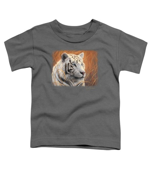 Portrait White Tiger 2 Toddler T-Shirt by Lucie Bilodeau