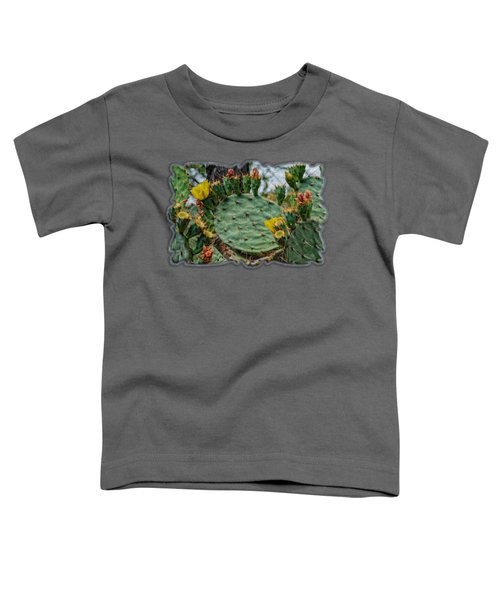 Prickly Pear Flowers Op46 Toddler T-Shirt by Mark Myhaver