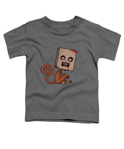 Psycho Sack Monkey Toddler T-Shirt by John Schwegel