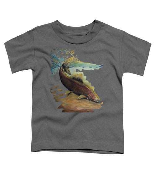 Rainbow Trout Trans Toddler T-Shirt by Kimberly Benedict