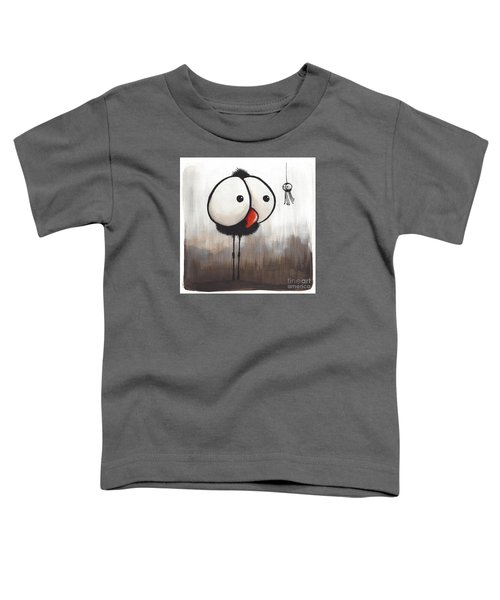 Retreating Little Spider Toddler T-Shirt by Lucia Stewart