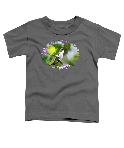 Ruby-throated Hummingbird-1 Toddler T-Shirt by Christina Rollo
