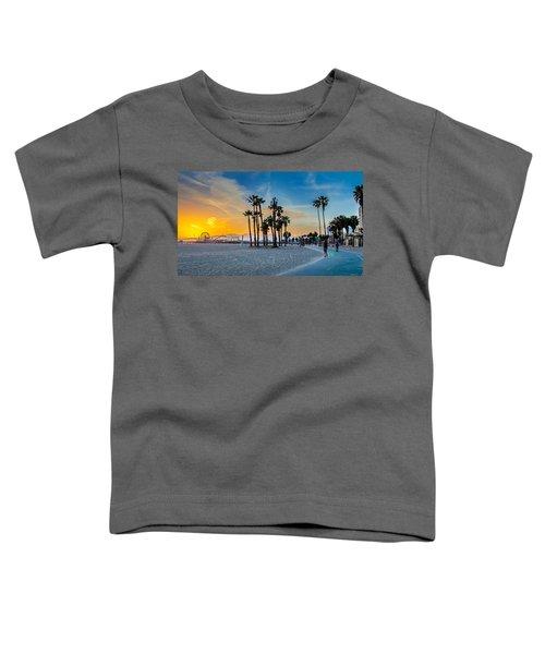Santa Monica Sunset Toddler T-Shirt by Az Jackson