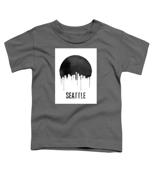 Seattle Skyline White Toddler T-Shirt by Naxart Studio