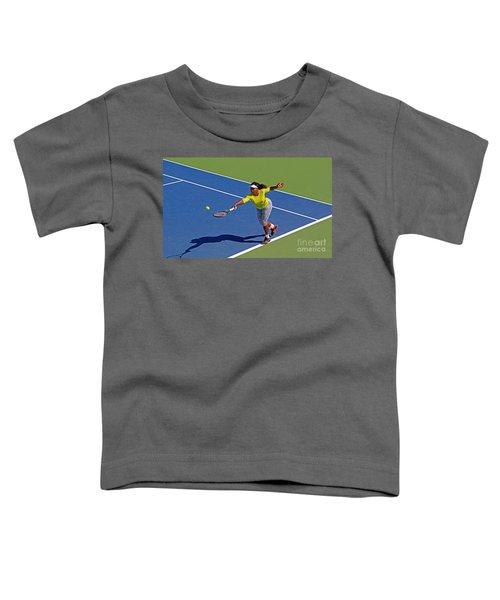 Serena Williams 1 Toddler T-Shirt by Nishanth Gopinathan